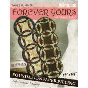 Forever Yours Wedding Ring Table Runner by Quiltworx - Judy Niemeyer Quiltworx