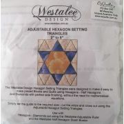 Westalee Hexagon Setting Triangle by Westalee Quilt Blocks - OzQuilts