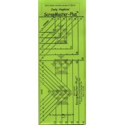 ScrapMaster Plus Ruler by Feathered Star by Marsha McCloskey - Scrap Busting Rulers