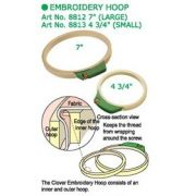 """Clover Embroidery Hoop Large 18cm (7"""") by Clover - Embroidery"""