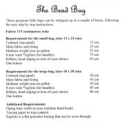 The Bead Bag Pattern by Moonshine Designs by Moonshine Designs - Bag Patterns