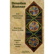 Dresden Runner & Lap Quilt with a 15 degree wedge tool by Phillips Fiber Art - Quilt Patterns