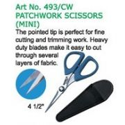 "Clover Mini Patchwork Scissors 4½"" by Clover - Scissors"