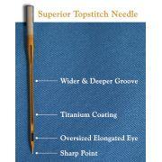 Superior Titanium Topstitch Needles 90/14 by Superior Threads - Machines Needles