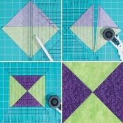 June Tailor Perfect Half Square & Quarter Square Triangles Ruler by June Tailor Quilt Blocks - OzQuilts