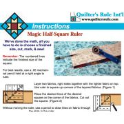 "Magic Half Square Triangle Ruler 6"" by Quilter's Rule International - Quilt Blocks"