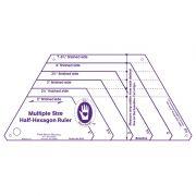 Marti Michell Multi Size Half Hexagon Ruler by Marti Michell - Quilt Blocks