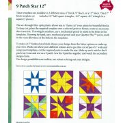 """9 Patch Star 12"""" Template Set by Matilda's Own - Quilt Blocks"""