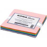 "Kona Sheen Complete Collection 5"" squares by Robert Kaufman Fabrics - Kona Cotton"