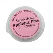 Foxglove Cottage Glass Head Applique Pins (150) by Foxglove Cottage - Applique Pins