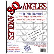SQangles Half Square Triangle  Iron On Transfers 1 1/4 inch by Sqangles - Sqangles Iron-on Transfer Sheets