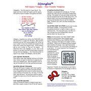 SQangles Half Square Triangle  Iron On Transfers 1 inch by Sqangles - Sqangles Iron-on Transfer Sheets