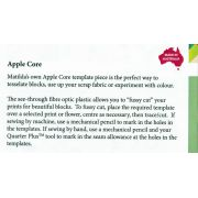 Matilda's Own Apple Core Patchwork Template by Matilda's Own - Quilt Blocks