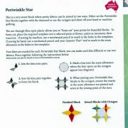 Matilda's Own Periwinkle Star Patchwork Template Set by Matilda's Own - Quilt Blocks