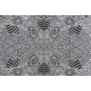 Water Hole Black Australian Aboriginal Art Fabric by Anna Pitjara by M & S Textiles - Cut from the Bolt