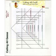 Calling All Geese Ruler by Eleanor Burns Quilt In A Day by Quilt in a Day Specialty Rulers - OzQuilts