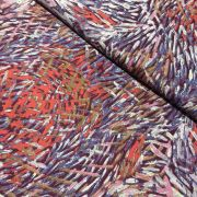 Bush Yam Red Australian Aboriginal Art Fabric by Jeannie Pitjara by M & S Textiles Cut from the Bolt - OzQuilts