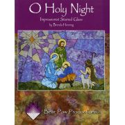 O Holy Night Impressionist Stained Glass by  - Christmas