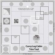 Creative Grids Curvy Log Cabin Trim Tool 8 inch by Creative Grids Log Cabin & Pineapple Rulers - OzQuilts