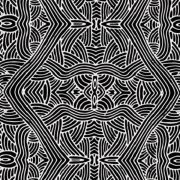 Untitled Black Australian Aboriginal Art Fabric by Nambooka by M & S Textiles Cut from the Bolt - OzQuilts