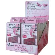 Clover Wonder Clips , 50 Pink Clips for Breast Cancer Awareness by Clover - Wonder Clips & Hem Clips