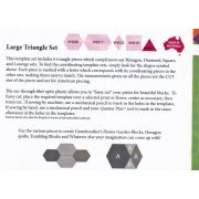Matilda's Own Large Triangle Patchwork Template Set by Matilda's Own - Geometric Shapes