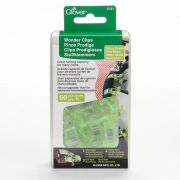 Clover Wonder Clips, 50 Neon Green Clips by Clover Wonder Clips & Hem Clips - OzQuilts