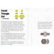 Matilda's Own Small 60 Degree Triangle Patchwork Template Set by Matilda's Own - Geometric Shapes