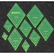 Matilda's Own Small Diamond Patchwork Template Set by Matilda's Own Geometric Shapes - OzQuilts