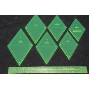 Matilda's Own Large Diamond Patchwork Template Set by Matilda's Own - Geometric Shapes