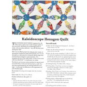 Kaleidoscope Hexagon Quilt Pattern Includes Template Set by Matilda's Own - Quilt Blocks