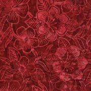 Benartex Red Costa Luna Floral Batik by Benartex Batik - OzQuilts