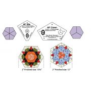"Marti Michell Kite & Crown Patchwork Template Set -2"" Finished Hexagons by Marti Michell - Quilt Blocks"