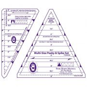 Marti Michell Peaky & Spike Multiple Size Rulers by Marti Michell - Triangles