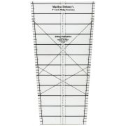9 Degree 37 inch Edge Extension with instruction board and 20 patterns by Marilyn Doheny Wedge Rulers - OzQuilts
