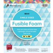 "Matilda's Own Single Sided Fusible Foam, 36"" x 58"" by Matilda's Own - Pre-Cut Batts"