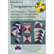 Triangulations 4.0 CD Rom , Print Half & Quarter square foundations by Bear Paw Productions - DVDs & CDs
