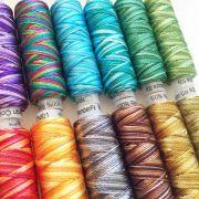Wonderfil Razzle Thread Sue Spargo Collection- 18 Variegated Colours Collection by Sue Spargo Razzle Sue Spargo Razzle Rayon - OzQuilts