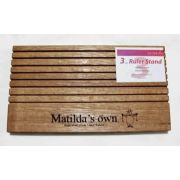 Matilda's Own Wooden Ruler Stand 3mm thick slots- Dark Wood by Matilda's Own - Accessories