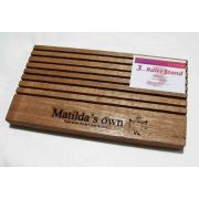 Matilda's Own Wooden Ruler Stand 3mm thick slots- Dark Wood by Matilda's Own Accessories - OzQuilts
