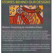 Women Dreaming 2 Blue Australian Aboriginal Art Fabric by Geraldine Dixon by M & S Textiles - Cut from the Bolt