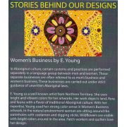 Womens Business Gold Australian Aboriginal Art Fabric by E Young by M & S Textiles - Cut from the Bolt