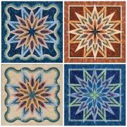 Feathered Star  - Blank Note Cards by Quiltworx Greeting Cards - OzQuilts