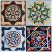 Mariner's Compass - Blank Note Cards by Quiltworx Greeting Cards - OzQuilts