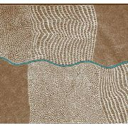 Bush Onion Dreaming in Brown by Jean Nampajinpa by M & S Textiles - Cut from the Bolt