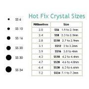 Swarovski Hot fix Flatback Crystals, Rainbow Compact SS10 (3mm) by Swarovski - Assorted Compacts