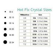 Swarovski Hotfix Flatback Crystals, Clear Crystal Compact by Swarovski - Assorted Compacts