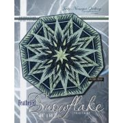 Feathered Snowflake Tree Skirt (or wall hanging) by Quiltworx - Patterns & Foundation Papers