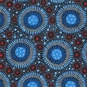 Wild Flora Baby Blue by Christine Doolan by M & S Textiles - Cut from the Bolt