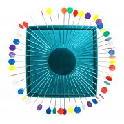 Zirkel Magnetic Pin Cushion - Turquoise by Zirkel Organisers for Pins - OzQuilts